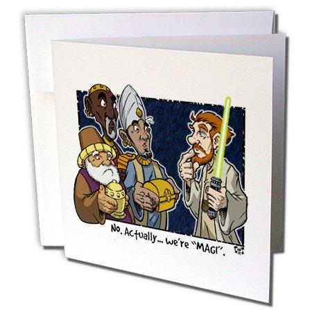 3dRose Tim Ellis Cartoon About Christmas Greeting Cards, 6