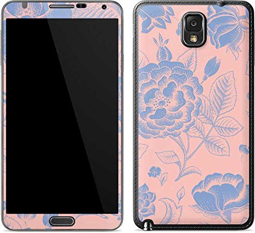 Floral Patterns Galaxy Note 3 Skin - Rose Quartz & Serenity Floral Vinyl Decal Skin For Your Galaxy Note 3