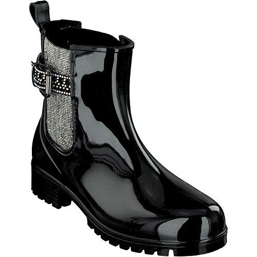 Arricciati Gosch Stivali Nero Shoes Sylt argento Donna xSqCZp