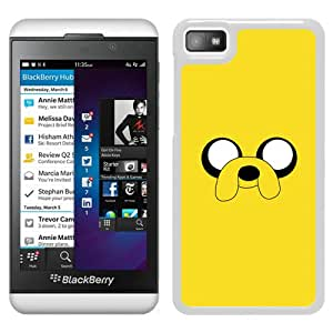 Fashionable Custom Designed Skin Case For Blackberry Z10 With Adventure Time 2 White Phone Case