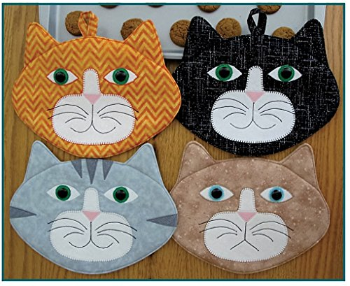 Cat Pattern - Allie Cats! - Pot Holder or Mug Mat - PATTERN only!