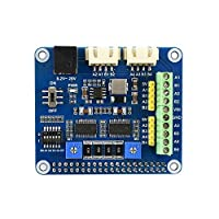Waveshare Stepper Motor HAT for Raspberry Pi Onboard Dual DRV8825 Motor Controller Built-in Microstepping Indexer Drives Two Stepper Motors Up to 1/32 Microstepping 5V 2.5A