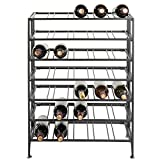 35-Bottle Connoisseurs Deluxe Foldable Gray Metal Wine Rack Cellar Storage Organizer Display Stand Review