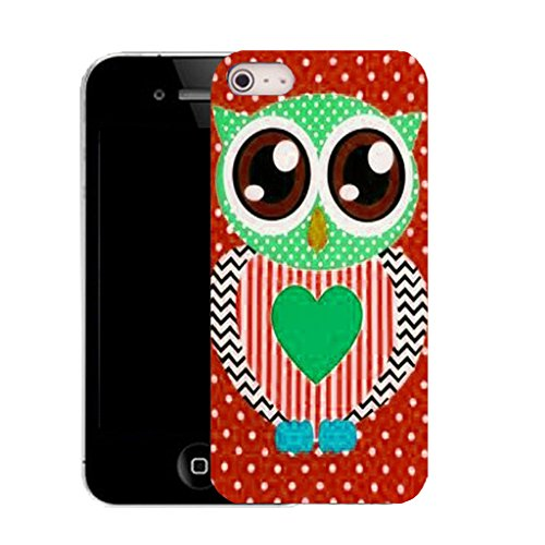 Mobile Case Mate IPhone 4 4S clip on Dur Coque couverture case cover avec Stylet - admiral owl Motif