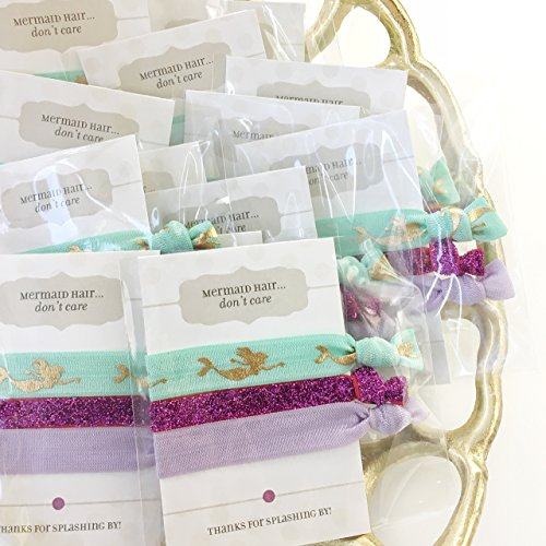 Mermaid Party Favors - Hair Ties (5 Pack)
