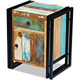 Daonanba Vintage-style Bedside Cabinet Unique Durable Stable Sturdy End Table Nightstand Solid Reclaimed Wood For Sale