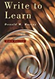 Write to Learn, Murray, Donald M., 0155019864