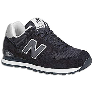beauty save off casual shoes Amazon.com | New Balance Big Kids 574 Navy/Silver | Running