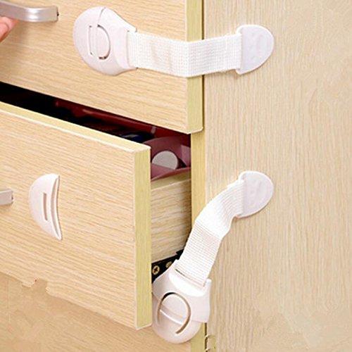 f/ácil de instalar 10 unidades con dedos sin trampas Correa para armario de seguridad para ni/ños a prueba de beb/és