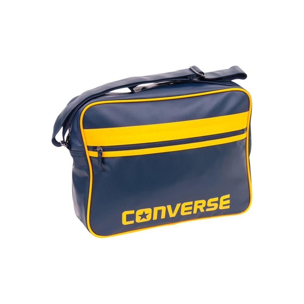 Converse Flat Zip Reporter Bag Sac Betoulière, 39 cm, Athletic Navy
