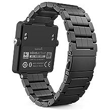 Garmin Vivoactive Acetate Watch Band, MoKo Universal Stainless Steel Adjustable Watch Band Strap Bracelet for Garmin Vivoactive Acetate Sports GPS Smart Watch, Black