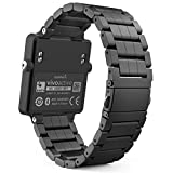 Garmin Vivoactive Acetate Watch Band, MoKo Universal Stainless Steel Adjustable Watch Band Strap Bracelet for Garmin Vivoactive Acetate Sports GPS Smart Watch, Black