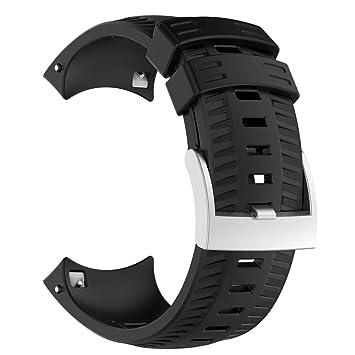 Liqiqi para Suunto 9 Baro Correas de Repuesto Suave Silicona Deporte Banda de Goma para Suunto 9 Baro Smart Watch: Amazon.es: Hogar