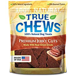 True Chews Premium Jerky Cuts Dog Treats, Sirloin Steak, 12 Ounce