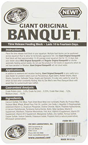 Picture of Zoo Med Laboratories AZMBB3 Giant Banquet Block Feeder, 2-Count