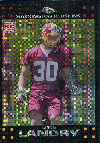 LaRon Landry Unsigned 2007 Topps Chrome Rookie Card - Unsigned Football Cards