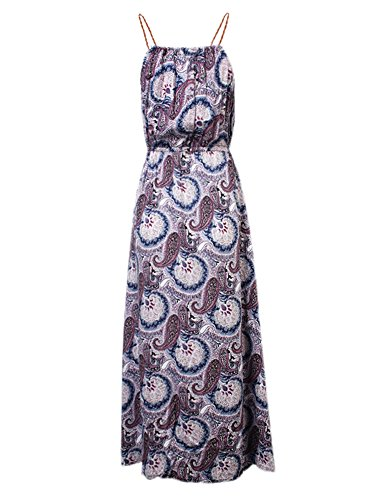 Donne Della Da Viola Partito Maxi Boemia Capestro Modello Vestito Stampato vZrfqxpvw