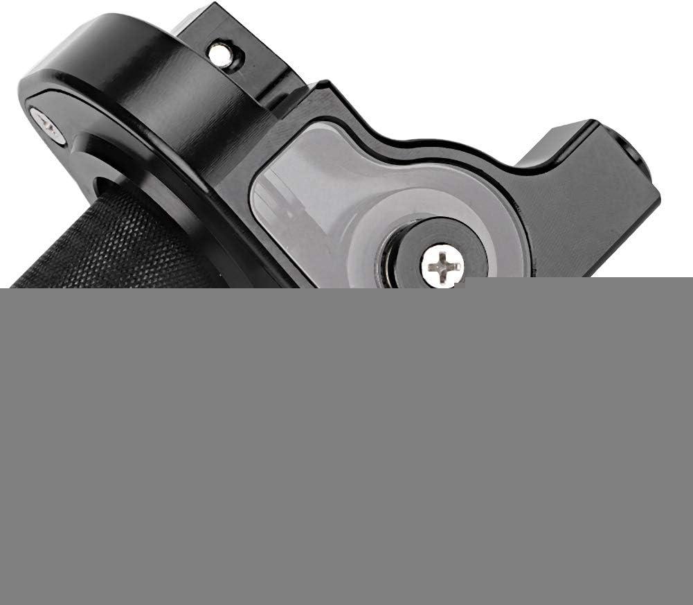 Alinory 22mm Motorrad Gasgriffe Durable Grip Gaspedal Moped Refit Zubeh/ör Motorrad Modifikation Schwarz