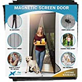 Flux Phenom Reinforced Magnetic Screen Door - Fits Doors up to 38 x 82 Inches (Black): more info