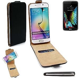 Caso Smartphone para LG Electronics K10 cubierta del estilo del tirón 360°, negro, cubierta del tirón - K-S-Trade