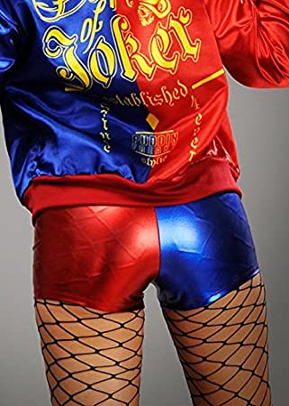 Delights Harley Quinn Style Shorts Rojos y Azules M (UK 10-12)