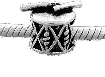 Amazon.com: Drum Charm Bead. Compatible With Most Pandora Style ...