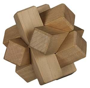 Professor Puzzle Chunky Wooden Puzzles - Puzzle de madera de 6 piezas (Professor puzzle 1007) (importado)