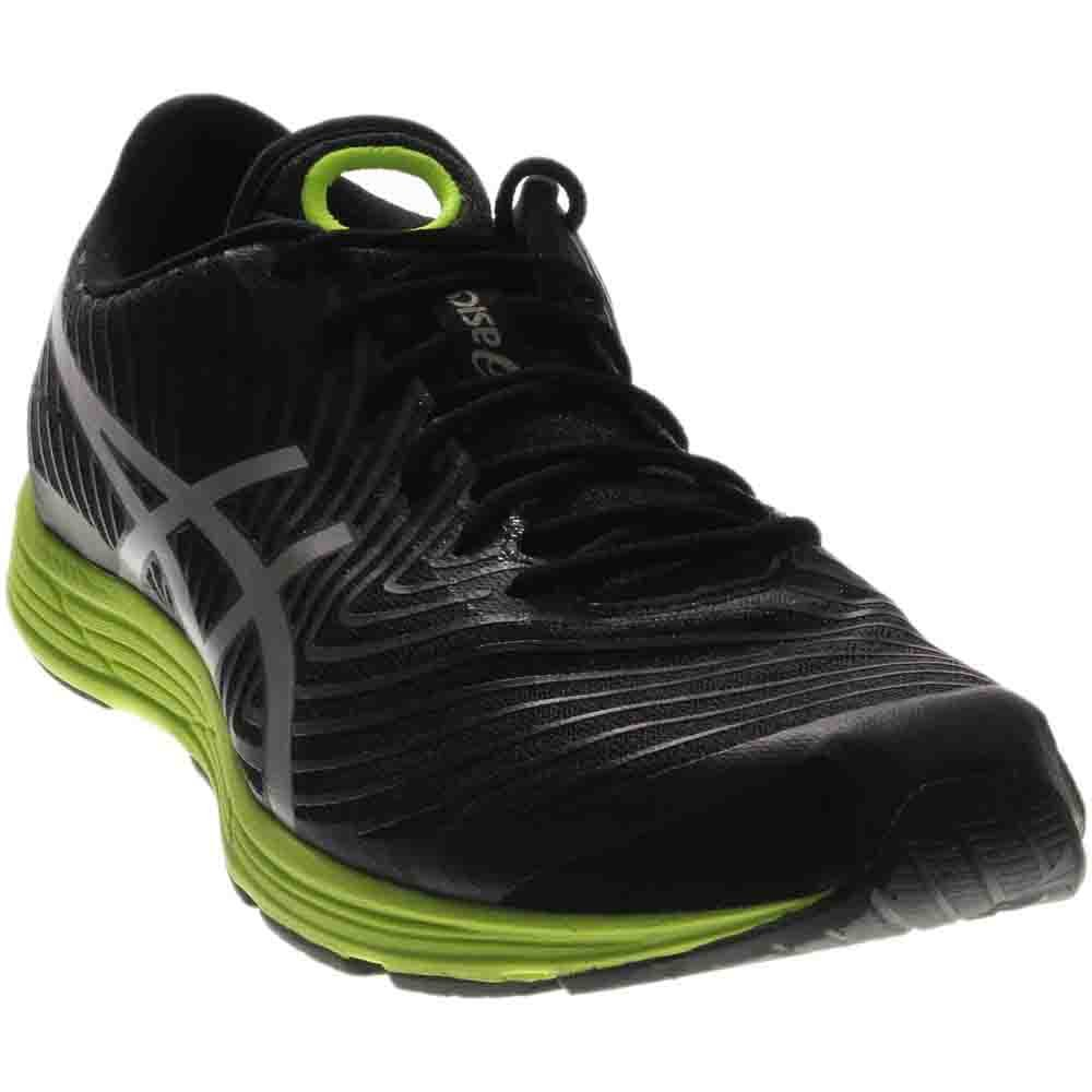 ASICS Men's Gel-Hyper Tri 3 Running Shoe, Black/Silver/Safety Yellow, 12 M US