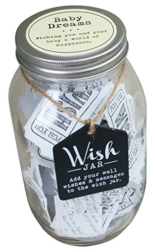 Top Shelf Baby Dreams Wish Jar ; Personalized Gift for a Boy or Girl ; Unique and Thoughtful Gift Ideas for Newborns ; Kit Comes with 100 Tickets and Decorative (Newborn Baby Girl Wishes)