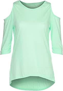 Rrive Womens Solid Color Hollow Relaxed-Fit Plus Size T-Shirt Tee