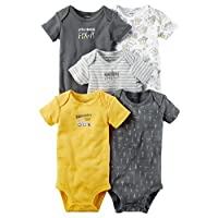 Carter's Baby Boys' 5-Pack Bodysuits 6 Months