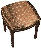 SketchONE Upholstered Vanity Stool, Bumble Bee, Bronze