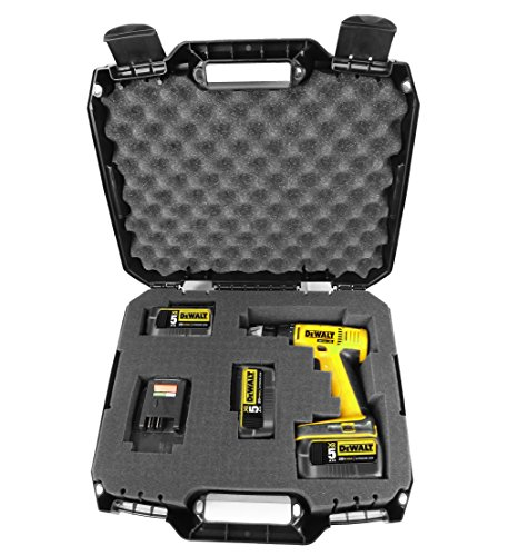 CASEMATIX RUGGED Impact Driver and Power Tool Case Fits Dewalt Impact Wrench , Batteries Chargers and Bits - Fits DCF899HB , DC825B , DCF887B , DC820B , DCF883B , DCF899B , DCF886B , DC823B and More