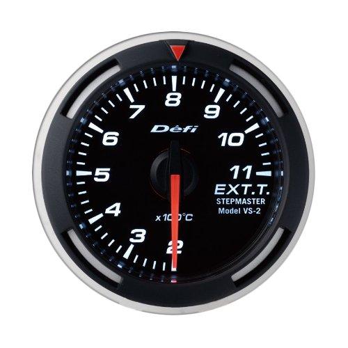 Defi DF06806 Racer Metric EGT Gauge, White, 52mm