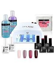 Gelnagellak Kit 4 MYGEL Nagellak Top Base Coat UV-lamp Beginnerskit Mylee prep + wipe remover