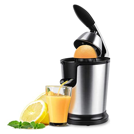 Exprimidor Eléctrico Para Naranjas y Cítricos de 160 W Manual/Eléctrico con Filtro de Acero