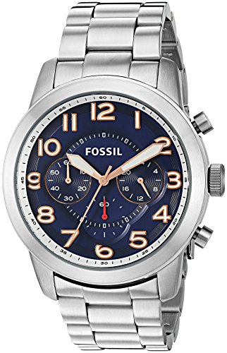 Fossil Men's Quartz Stainless Steel Watch, Color Silver-Toned (Model: FS5203) -  Fossil Watches