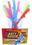 Party Pecker Straws 10pk - 5 Asst Colors