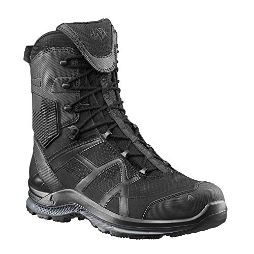 5 7 Black 2 7 Athletic Black High 330004M Boots 5 Side 0 T Haix Eagle Zip PSZ64w