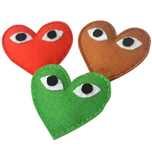 ? SS. ? handmade. Rei Kawakubo big brooch. Felted wool cloth with big eyes ()