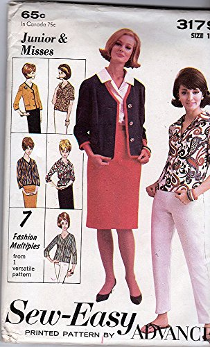 Advance Pattern 3179; ca. 1963; Junior/Misses' Blouse, Jacket, Skirt and Pants, Size 11