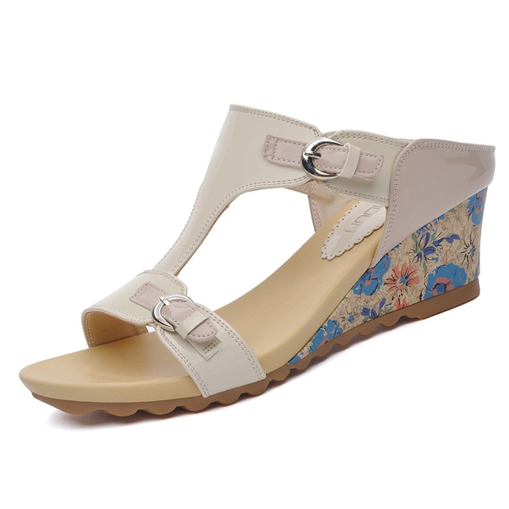 ZHANGRONG- Weibliche Sommer Saison Mode Plattform Keil Sandalen : Sandalen im Freien (Farbe : Sandalen B, Größe : EU36/UK3.5/CN35) C 208c17