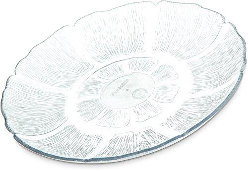 (Carlisle 695407 Petal Mist Polycarbonate Dessert Plate, 7-11/16