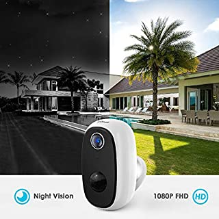 Wireless Outdoor Security Camera,ieGeek Rechargeable Battery Powered Outdoor/Indoor Surveillance Home Security Camera with Motion Detection,25m IR Night Vision,2-Way Audio,Cloud&Micro SD Card Storage