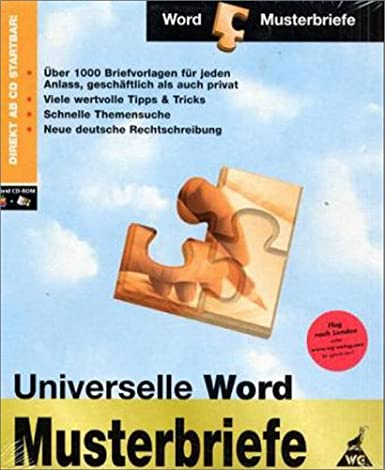 Universelle Word Musterbriefe Werner Greuter Amazonde Software
