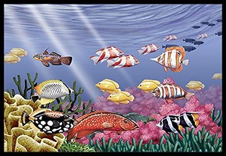 Multicolor Carolines Treasures PTW2032JMAT Undersea Fantasy 7 Indoor or Outdoor Mat 24 x 36