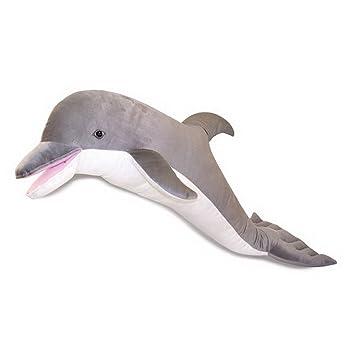 Salut Maman - Gran Delfín Dolphin Peluche Oversize Deko, 41 x 99 x 43 cm, Gris: Amazon.es: Juguetes y juegos