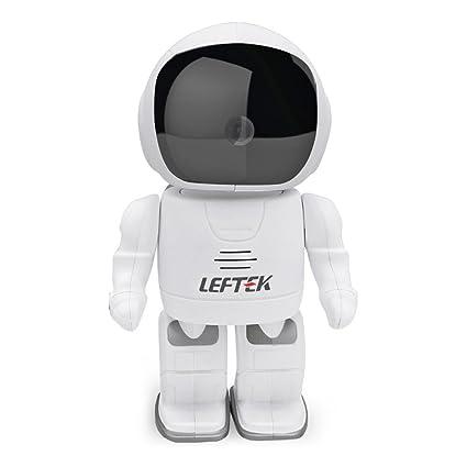 leftek cámara de seguridad inalámbrica 960p hd espacio robot cámara Baby Monitor Cámara WIFI Pan-
