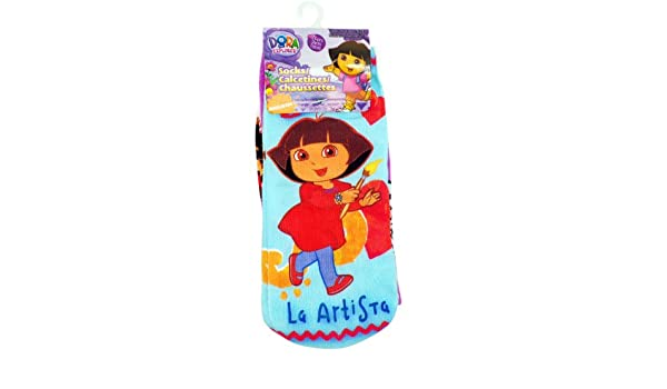 Amazon.com: 3 Pair Assorted Dora the Explorer Artista Socks (Size 5-9) - Dora the Explorer Ankle Socks: Toys & Games