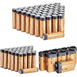AmazonBasics Alkaline Battery Combo Pack | AA 48-Pack, AAA 36-Pack, 9 Volt 8-Pack (May Ship Separately)
